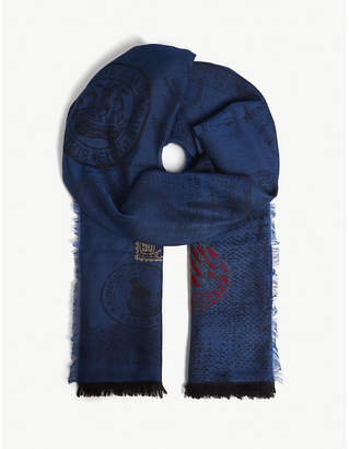 Etro Stamp fil coupé wool scarf