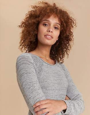 Joules Camara Tape Yarn Jumper in Grey Marl