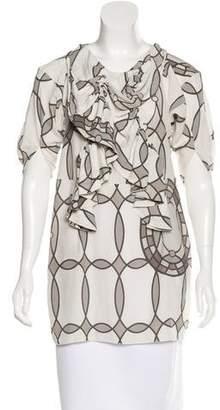 Marni Printed Ruffle-Trimmed Tunic