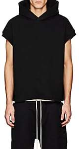 Fear Of God Men's Cotton Sleeveless Hoodie-Black