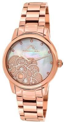 Porsamo Bleu Women's Juliet Diamond Bracelet Watch, 38mm x 44.5mm - 0.15 ctw
