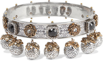 Alexander McQueen - Silver And Gold-plated Swarovski Crystal Choker - one size $2,395 thestylecure.com