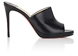 Christian Louboutin Women's Pigamule Leather Mules - Black