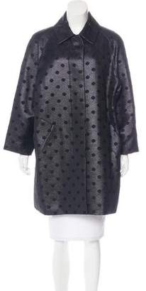 Marc Jacobs Embroidered Metallic Coat w/ Tags