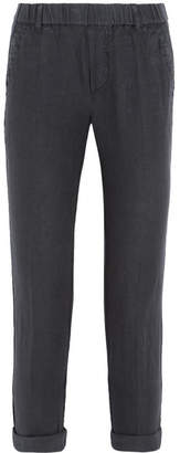 James Perse - Linen Tapered Pants - Dark gray $195 thestylecure.com