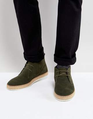 Dune Desert Boots With Espadrille Sole Khaki
