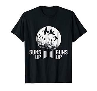 Hunter Suns Up Guns Up - Funny Duck Shirt