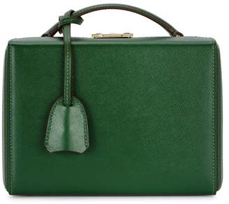 At Harvey Nichols Mark Cross Grace Small Dark Green Leather Bag