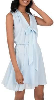 Molly Bracken Tie-Front Fit--Flare Dress