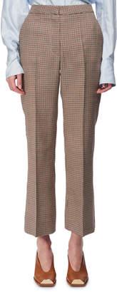 Stella McCartney Check Wool Cropped Kick-Flare Pants