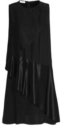 Vionnet Draped Silk-Satin And Crepe Dress