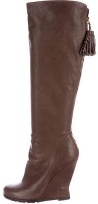 Saint LaurentYves Saint Laurent Leather Knee-High Boots