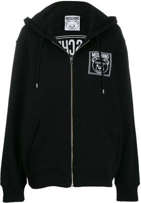 Moschino Logo zip-up sweatshirt