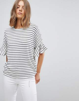 Vero Moda Knitted Top With Fluted Sleeve