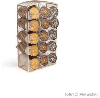 Mind Reader 30 Capacity Metal Mesh K-Cup Coffee Pod Carousel Storage Organizer, Gold