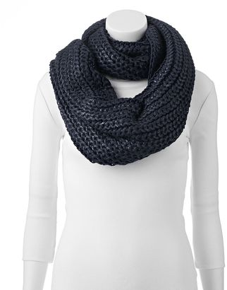 Keds Cable-Knit Metallic Infinity Scarf $48 thestylecure.com