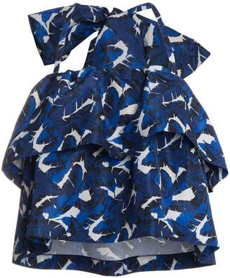 MSGM Detachable bow tiered top