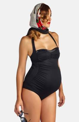 Pez D'or 'Retro' Ruched One-Piece Maternity Swimsuit