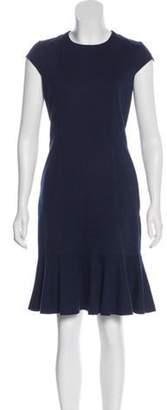 Akris Punto Tonal Knee-Length Dress Blue Tonal Knee-Length Dress