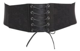 Black Stretch Lace Corset Belt