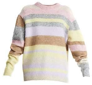 Acne Studios Women's Kablah Striped Mohair-Blend Crewneck Sweater