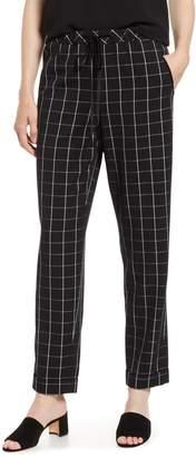 Karl Lagerfeld Paris Plaid Cuff Pants