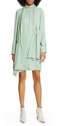 Tibi Modern Drape Long Sleeve Dress