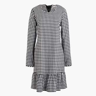 J.Crew Flannel ruffle dress