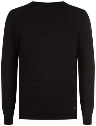 Emporio Armani Tonal Zebra Stripe Sweater