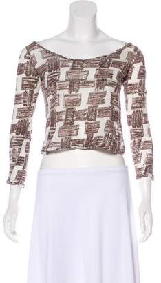 Amo Abstract Print Crop Top