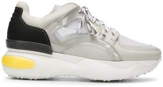 Fendi Leather Sneaker With Net
