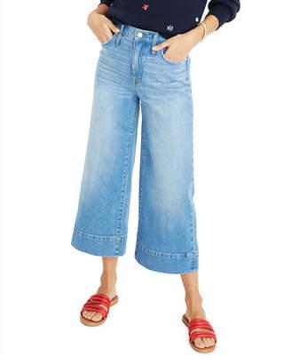 "Madewell 10"" High-Rise Wide-Leg Crop Jeans"