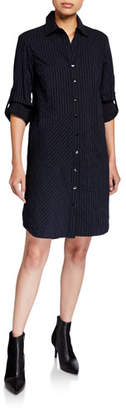 Finley Bailey Textured Stripe Button-Down Shirtdress