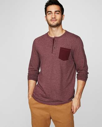 Express Long Sleeve Pocket Henley