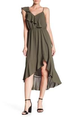 1 STATE 1.State Ruffle High/Low Midi Dress