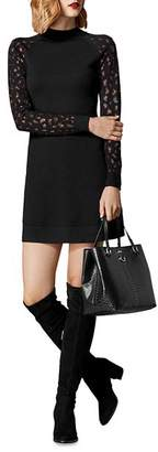Karen Millen Embellished Leopard Sweater Dress