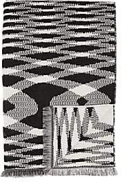 Missoni Sigmund Wool Throw - Wht.&blk.