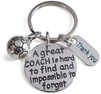 Coach JewelryEveryday Soccer Gift, Appreciation Gift, A Great is Impossible to Forget
