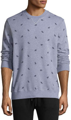 Derek Rose Cornwall 3 Leaf-Print Cotton Sweatshirt