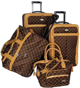 American Flyer Signature 4-Piece Luggage Set