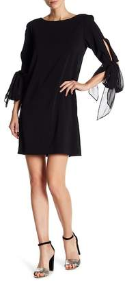 Badgley Mischka Sash Sack Dress