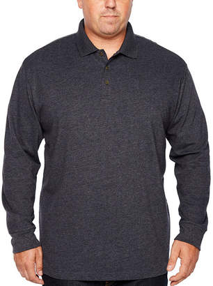 Co THE FOUNDRY SUPPLY The Foundry Big & Tall Supply Long Sleeve Knit Polo Shirt Big and Tall