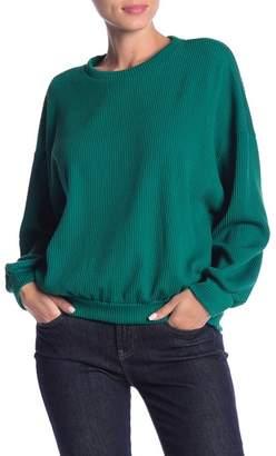 Lush Textured Rib Knit Long Sleeve Pullover