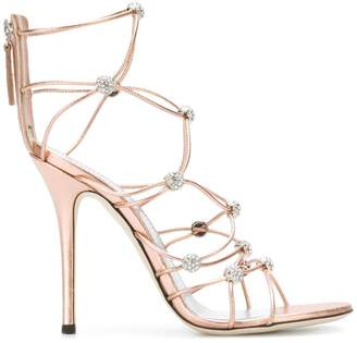 Giuseppe Zanotti Design strappy crystal beaded heeled sandals