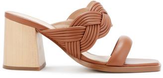 Rachel Zoe Tara Braided Leather Peep-Toe Mules