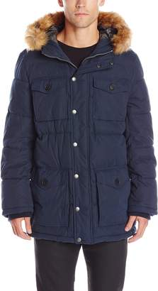 Tommy Hilfiger Mens Outerwear Micro Twill Full Length Hooded Parka