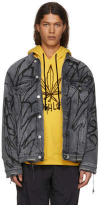 Adaptation Black Oversized Denim Saber Jacket