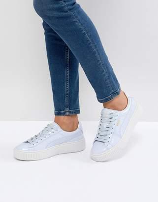 Puma Basket Platform Patent Sneaker