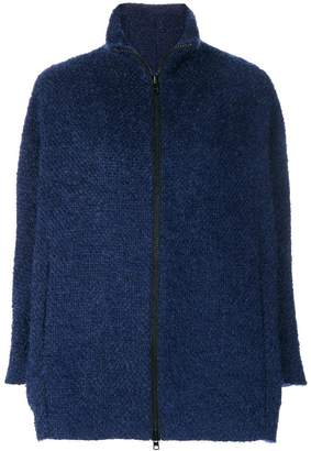Gianluca Capannolo knit zipped coat