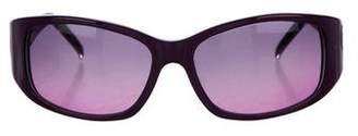 Judith Leiber Embellished Gradient Sunglasses